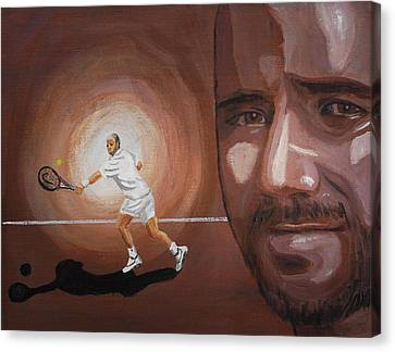 Andre Agassi Canvas Print by Quwatha Valentine
