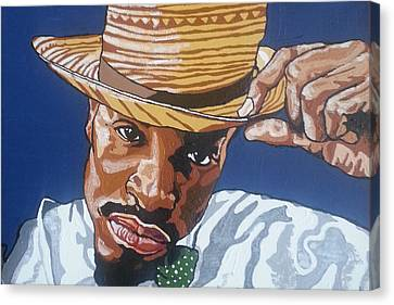Canvas Print featuring the painting Andre Benjamin by Rachel Natalie Rawlins