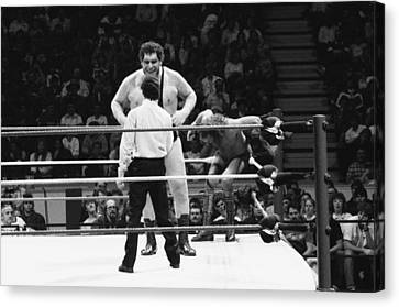 Andre The Giant Canvas Print by Bill Cubitt
