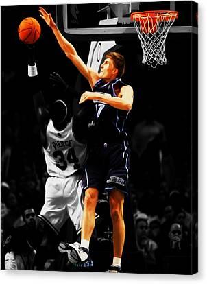 Utah Jazz Canvas Print - Andrei Kirilenko by Brian Reaves