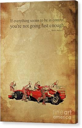 Andretti E Ferrari Canvas Print by Pablo Franchi
