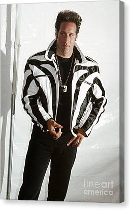 Canvas Print featuring the photograph Andrew Dice Clay 1989 by Chris Walter