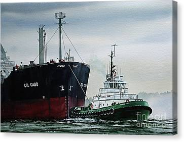 Andrew Foss Ship Assist Canvas Print by James Williamson