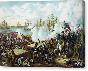 Andrew Jackson -- Battle Of New Orleans Canvas Print