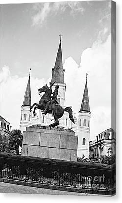 Andrew Jackson - Jackson Square New Orleans Canvas Print by Scott Pellegrin