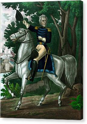 Andrew Jackson On Horseback Canvas Print by War Is Hell Store