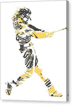 Andrew Mccutchen Pittsburgh Pirates Pixel Art 2 Canvas Print