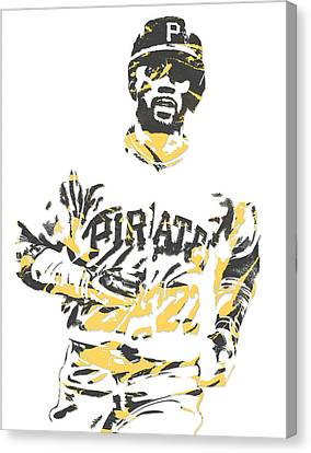 Andrew Mccutchen Pittsburgh Pirates Pixel Art 5 Canvas Print