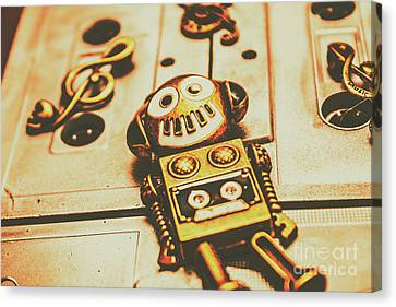 Cassettes Canvas Print - Android Rave by Jorgo Photography - Wall Art Gallery
