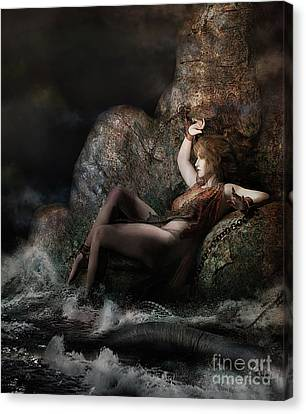 Canvas Print featuring the digital art Andromeda by Shanina Conway