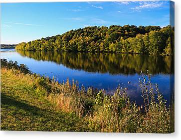 Androscoggin Morning Canvas Print by Laurie Breton