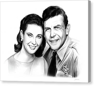 Griffith Canvas Print - Andy And Ellie by Greg Joens
