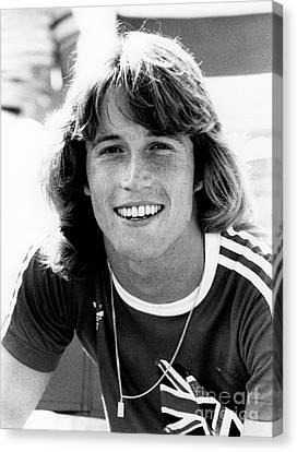 Canvas Print featuring the photograph Andy Gibb 1977 by Chris Walter