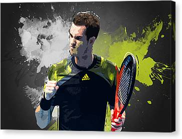 Andy Murray Canvas Print by Semih Yurdabak