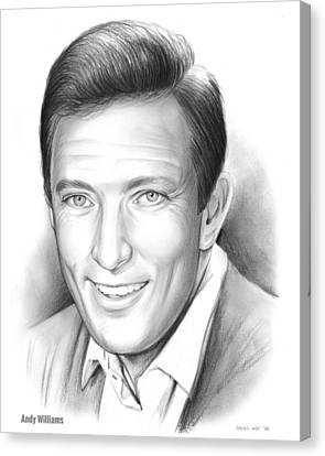 Andy Williams Canvas Print by Greg Joens