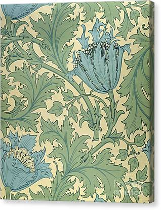 Victorian Canvas Print - Anemone Design by William Morris