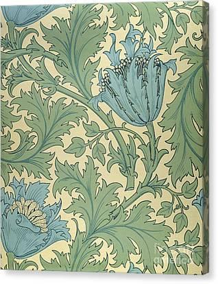 Anemone Design Canvas Print by William Morris