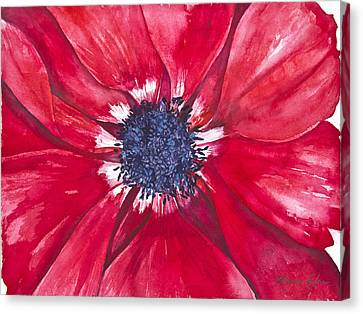 Anemone Canvas Print by Patricia Allingham Carlson