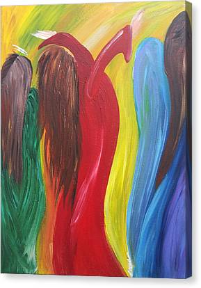 Angels With Me Canvas Print by Tracy Ann Delfar