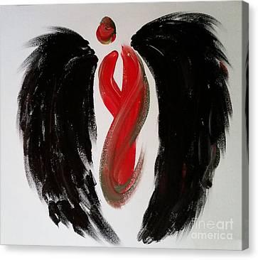 Angel Betty  Canvas Print by Tracy Ann Delfar