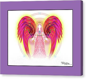 Canvas Print featuring the digital art Angel #199 by Barbara Tristan