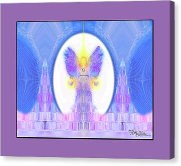 Canvas Print featuring the digital art Angel #200 by Barbara Tristan