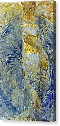 Canvas Print featuring the painting Angel 3 by Valeriy Mavlo