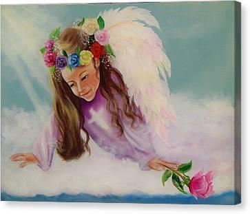 Angel Above Canvas Print
