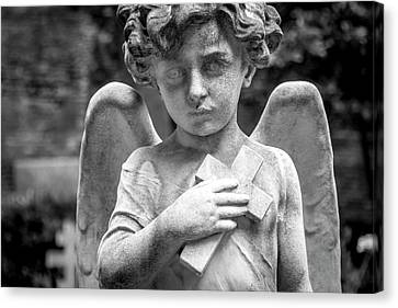 Angel And Cross Canvas Print