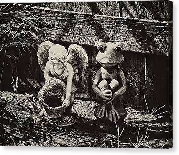 Angel And Frog Canvas Print by Bill Cannon