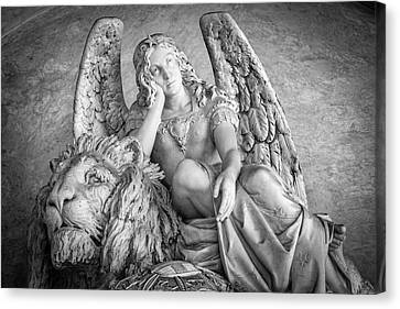 Angel And Lion Canvas Print