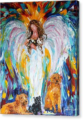 Angel And Pets Canvas Print