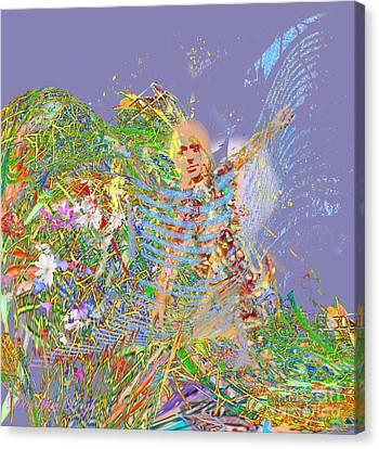 Angel Arriving Canvas Print by Dorothy  Pugh