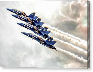 Angel Ascent Canvas Print by Peter Chilelli