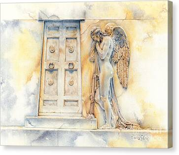Angel At The Gate Canvas Print by David Evans