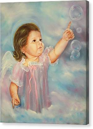 Canvas Print featuring the painting Angel Baby by Joni McPherson