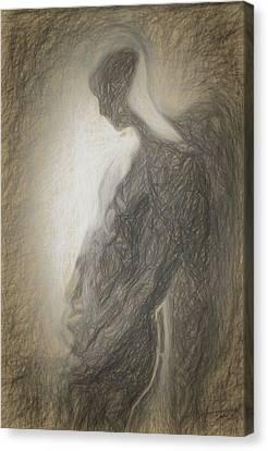 Angel Backlit Canvas Print by Quim Abella