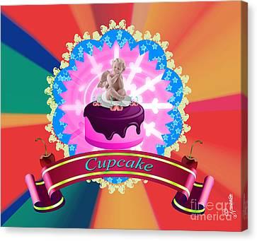 Angel Cupcake Canvas Print by Artist Nandika  Dutt