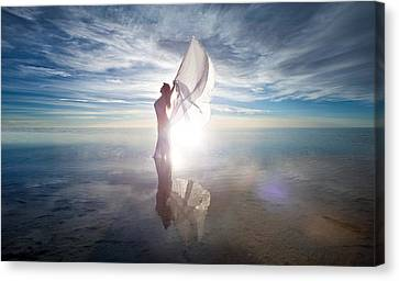 Canvas Print featuring the photograph Angel by Dario Infini