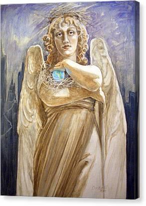 Angel Earth Canvas Print by Kathryn Donatelli