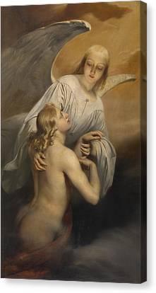 Super Girl Canvas Print - Angel by Edouard Dujardin