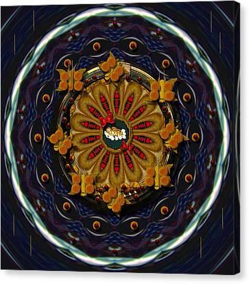 Flower Blooms Canvas Print - Angel Flower In The Sky by Pepita Selles