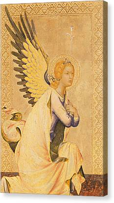 Ornate Canvas Print - Angel Gabriel  by Simone Martini