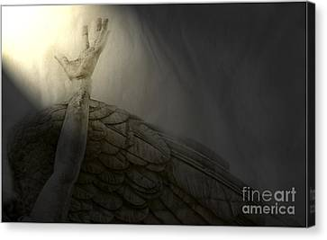Angel Hand Canvas Print by Craig J Satterlee