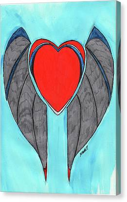 Angel Heart Canvas Print by Ronald Woods