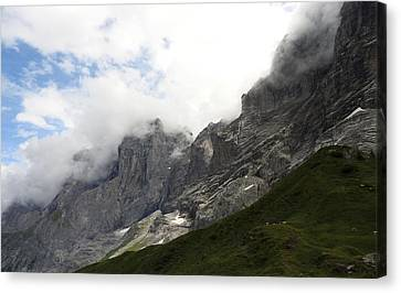 Angel Horns In The Clouds Canvas Print