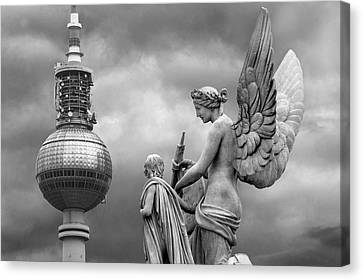 Angel In Berlin Canvas Print by Marc Huebner