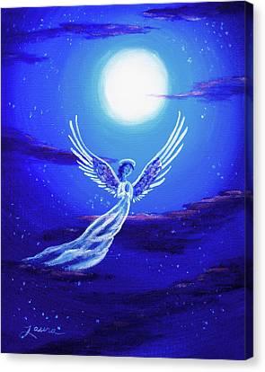 Angel In Blue Starlight Canvas Print