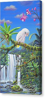 Bromeliad Canvas Print - Angel In Paradise by Danielle Perry