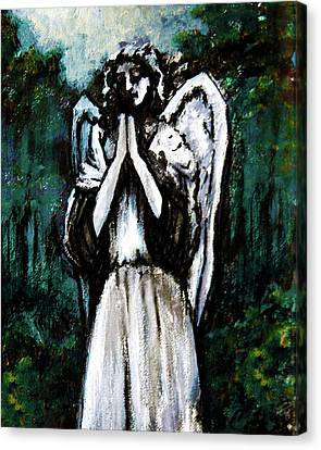Angel In The Garden Canvas Print